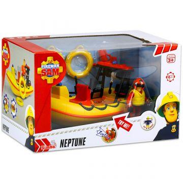 Sam a tűzoltó járművek - Neptune motorcsónak figurával