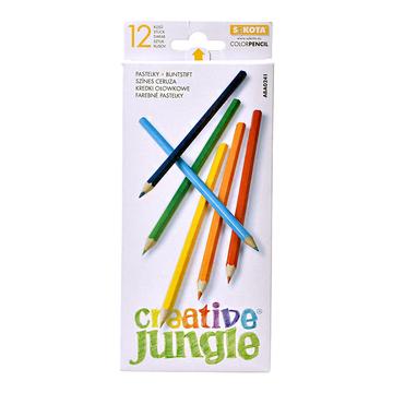 Creative Jungle: set creioane colorate - 12 buc.