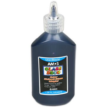 Amos fekete kontúr üvegfesték - 40 ml