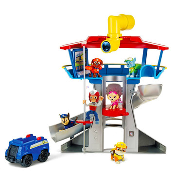 Paw Patrol: Turn de control cu figurină Chase şi maşină de poliţie