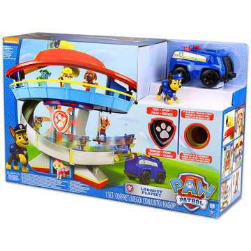 Paw Patrol: Turn de control cu figurină Chase şi maşină de poliţie - .foto