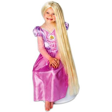 Disney hercegnők: Aranyhaj sötétben világító paróka - 80 cm