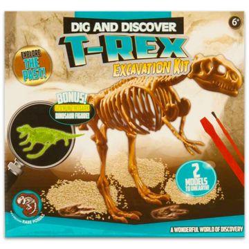 T-Rex dinoszaurusz régész készlet