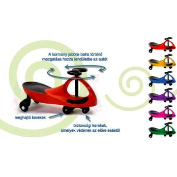 BoboCar gumikerékkel - piros - . kép