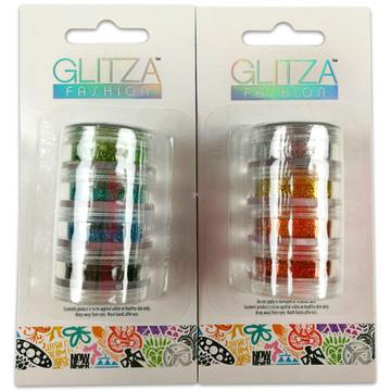 Glitza csillámtetoválás: 4 darabos csillámpor utántöltő - többféle