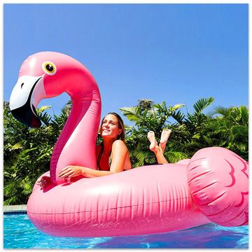 Saltea gonflabilă Flamingo uriaş - 215 x 211 x 136 cm - .foto