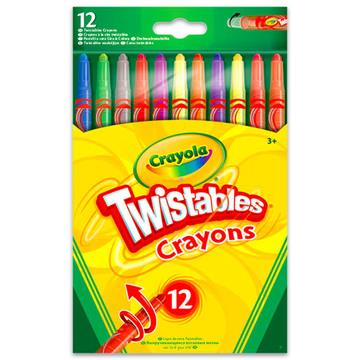 Crayola: 12 darabos csavarozható zsírkréta