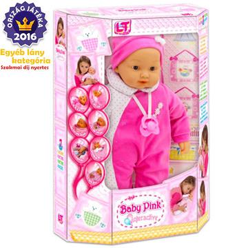 Loko baba - interaktív, rózsaszín ruhában - CSOMAGOLÁSSÉRÜLT - . kép