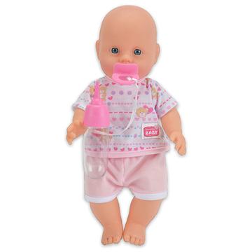 New Born Baby. pisilős baba rózsaszín ruhában