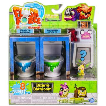 Flush Force: Bűzös WC játékszett 8 darab figurával - többféle