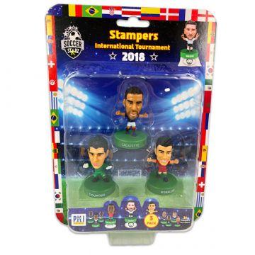 Soccer Starz: 3 darabos focista figura - Lacazette, Courtois, Ronaldo