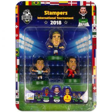 Soccer Starz: 3 darabos focista figura - Griezmann, Aguero, Isco