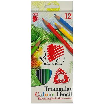 ICO Süni: Set creioane colorate triunghiulare - 12 buc.