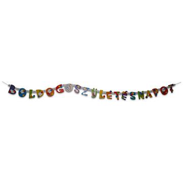 Boldog születésnapot feliratos girland 1,6 m