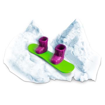 Floof! Hópehely gyurma: Snowboard Park készlet - 120g - . kép