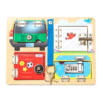 Melissa and Doug: Joc pentru dezvoltarea abilităţilor - Încuie şi descuie - .foto