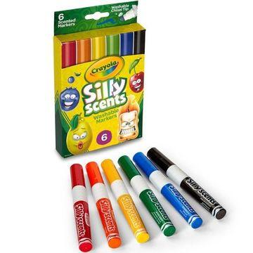 Crayola: 6 darabos, vágott hegyű, illatos filctoll szett