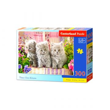 Castorland: három szürke kiscica 300 darabos puzzle