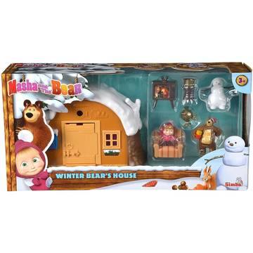 Masha és a medve: téli medvelak játékszett - . kép
