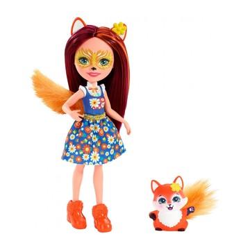 Enchantimals: Felicity Fox figura kék felsőben
