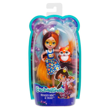 Enchantimals: Felicity Fox figura kék felsőben - . kép
