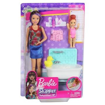 Barbie Skipper: barna hajú Barbie vörös hajú kislánnyal - . kép