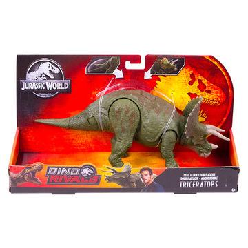 Jurassic World: Dinó riválisok - Triceratops figura, több színben - . kép