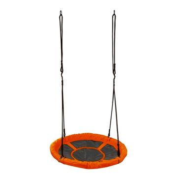 Spartan Leagăn cuib rotund - 95 cm, negru-portocaliu