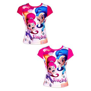 Shimmer és Shine: rövid ujjú póló - 98 méret, kétféle színben