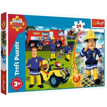 Trefl: Sam, a tűzoltó 24 darabos maxi puzzle