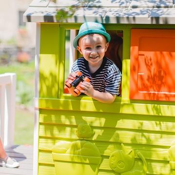 Smoby: Căsuță de joacă cu tobogan - .foto
