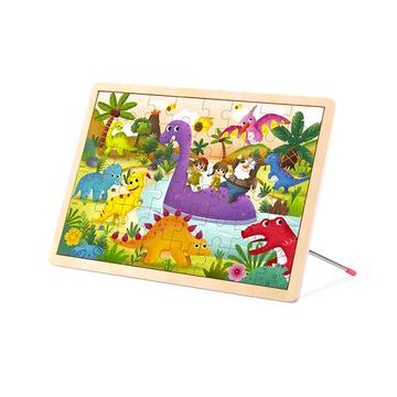 Puzzle tábla fából - 27,5 x 20 cm - . kép