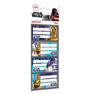 Star Wars: R2D2 és C-3PO mintás 12 darabos füzetcímke