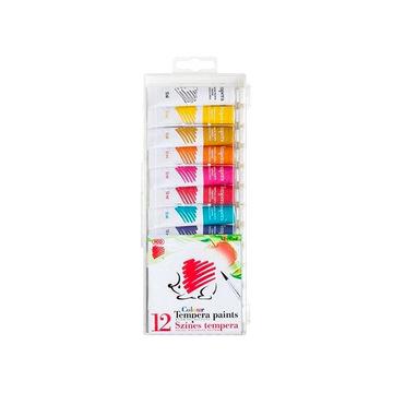 ICO: Süni tempera 12 x 12 ml, élénk színek