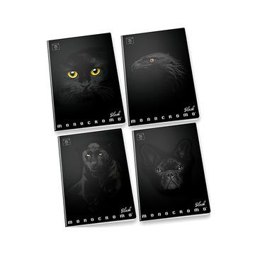 Pigna: Monocromo Black vonalas füzet - A4, 81-38, többféle