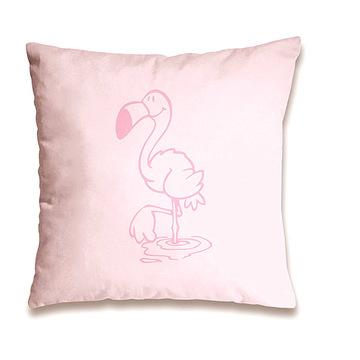 Nici: flamingó mintás párna - 37 x 37 cm, rózsaszín - . kép