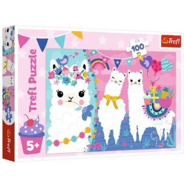 Trefl: Lama - puzzle cu 100 piese