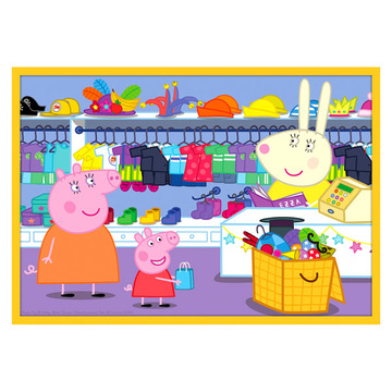 Trefl: Peppa malac - Peppa malac a barátaival, 10 az 1-ben puzzle - . kép