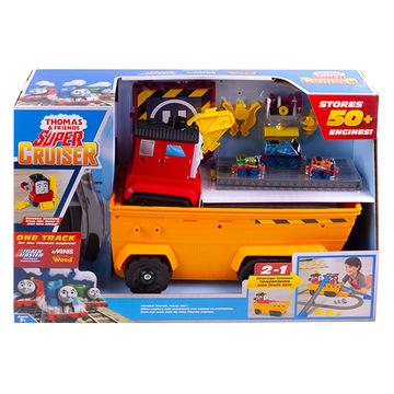 Thomas, a gőzmozdony: 2 az 1-ben mozdonytároló és szállító pályaszett - . kép