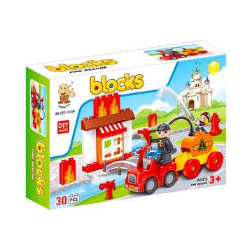 Luna Blocks: Tűzoltó építőjáték - 30 darabos