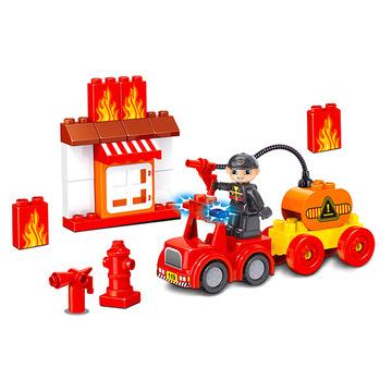 Luna Blocks: Tűzoltó építőjáték - 30 darabos - . kép