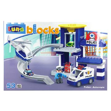 Luna Blocks: Rendőrségi építőjáték - 53 darabos