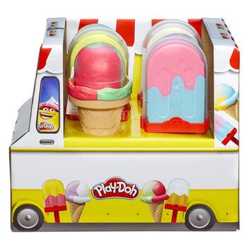 Set de plastilină Play-Doh Prepară îngheţată pe beţişor sau în corn - diferite - .foto