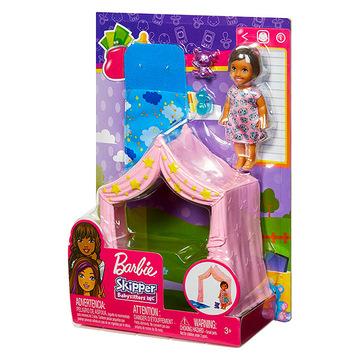Barbie Skipper: Bébiszitter pizsama party szett kislány babával - . kép