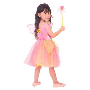 Barackvirág tündér jelmez 6-8éveseknek - 128cm - . kép
