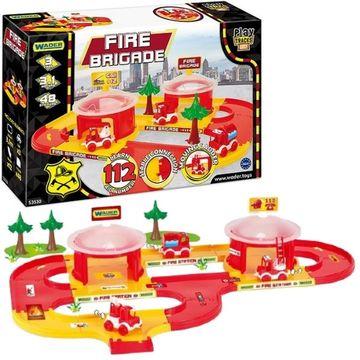 Set de joacă Stație de pompieri cu vehicule, Wader