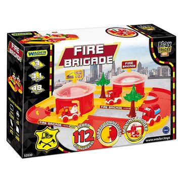 Set de joacă Stație de pompieri cu vehicule, Wader - .foto