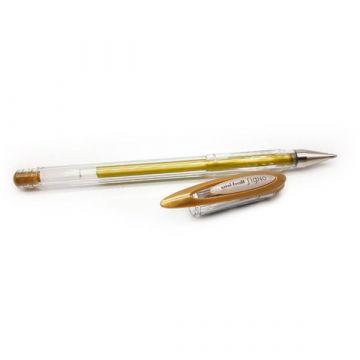 Uni Ball gyorsan száradó zselés toll - metál arany