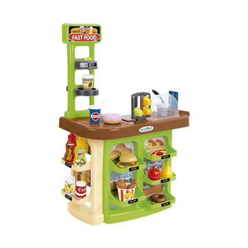 Set de joacă Ecoiffier, Fast Food cu accesorii