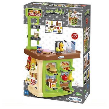 Ecoiffier: Gyorsétterem játékszett kiegészítőkkel - . kép